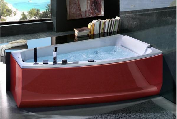 baignoire-asymétrique-moderne-en-rouge