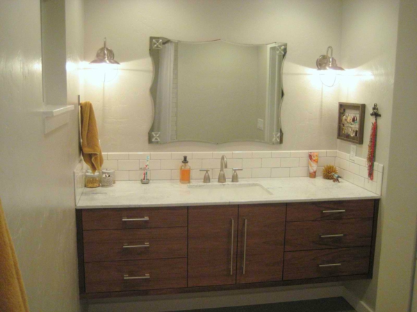 bathroom-furniture-sophisticated-brown-walnut-wood-double-ikea-vanity-bathroom-with-unshaped-frameless-wall-mirror-and-drop-in-ceramic-sink-luxury-ikea-bathroom-furniture-pictures-ideas