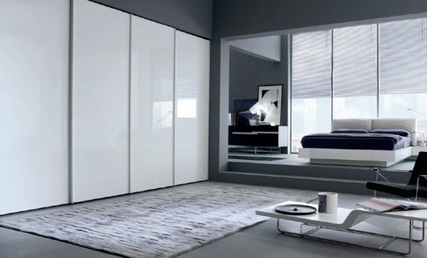 L 39 armoire avec porte coulissante pour la chambre a for Mobilier chambre a coucher blanc