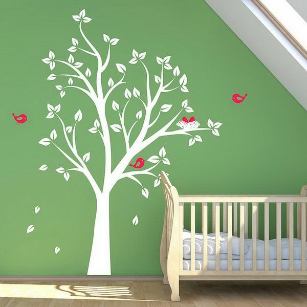 Stickers Arbre Blanc Chambre Bebe : Stickers pour la chambre de bébé arbre archzine