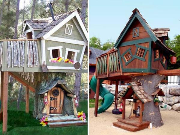 cabane-dans-les-arbres-d'enfant-original