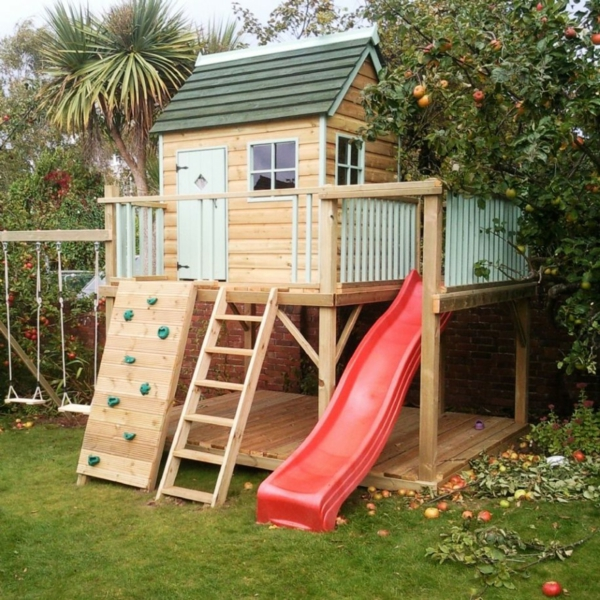 La cabane de jardin pour enfant est une id e superbe pour for Cabanes du jardin de pierre