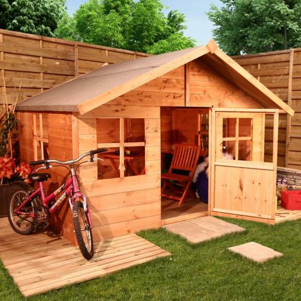 La cabane de jardin pour enfant est une id e superbe pour - Construire une cabane de jardin avec des palettes ...