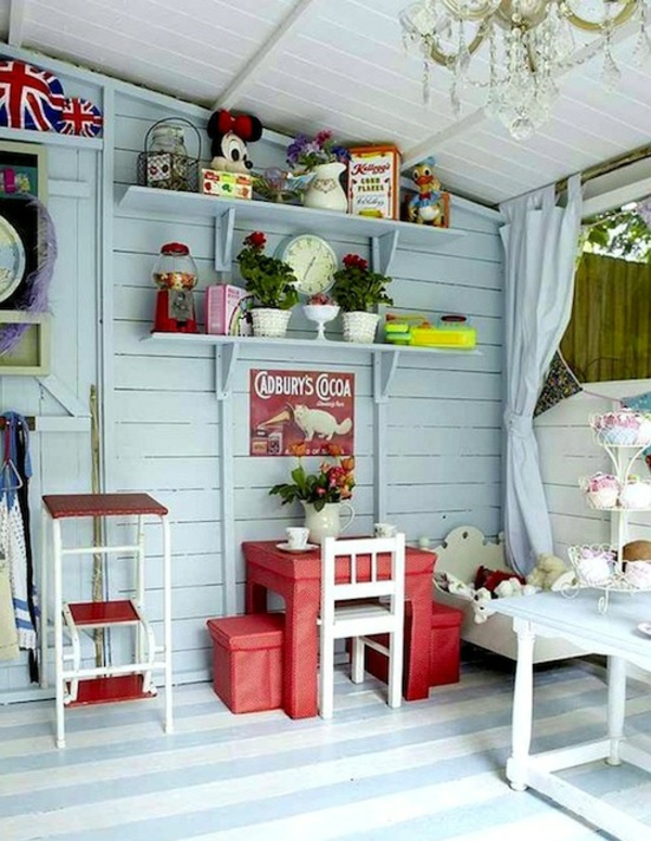 La cabane de jardin pour enfant est une id e superbe pour for Decoration jardin interieur