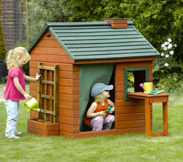 La cabane de jardin pour enfant est une id e superbe pour votre jardin - Cabane pour jardin orleans ...
