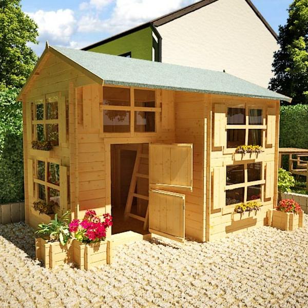 La cabane de jardin pour enfant est une id e superbe pour - Maison en bois jardin ...