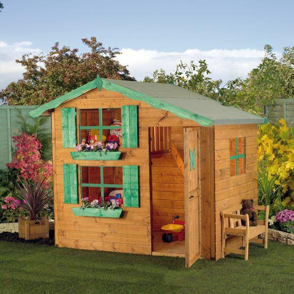 cabane-de-jardin-pour-enfant-maisonnette-avec-un-lit-loft