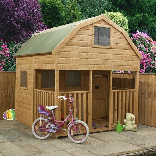 La cabane de jardin pour enfant est une id e superbe pour for Petite maison de jardin en bois