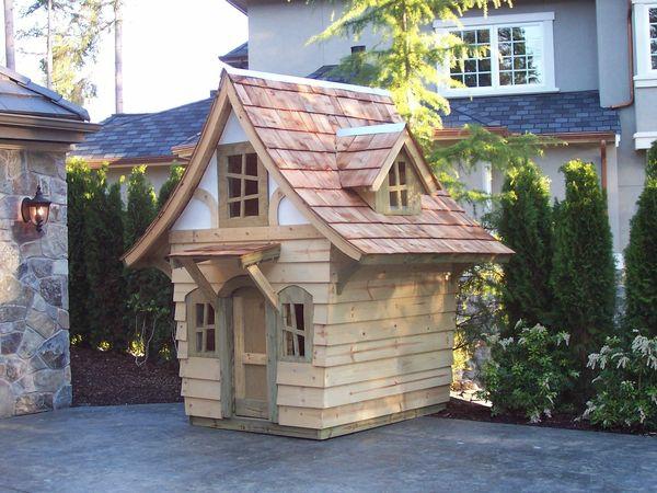 La cabane de jardin pour enfant est une id e superbe pour for Cabane bois jardin