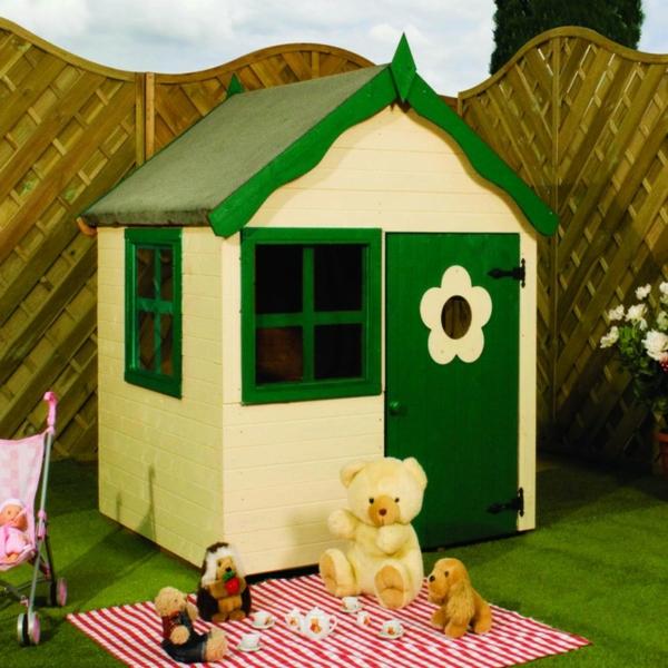 cabane-de-jardin-pour-enfant-une-fenêtre-verte-fleur-déco-sur-la-porte