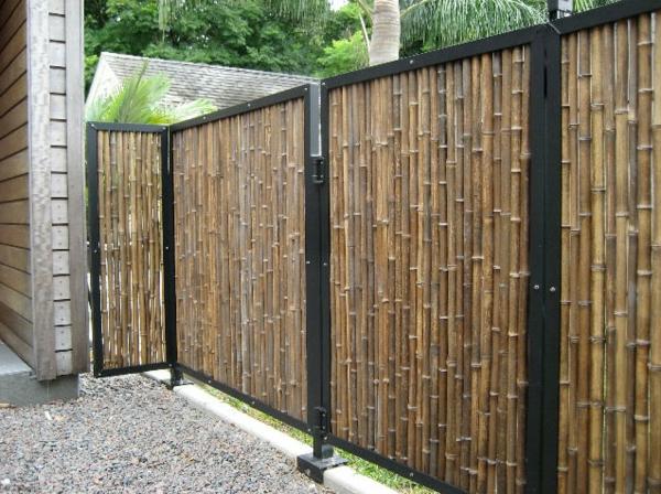 La canisse bambou une cl ture de jardin jolie et for Cloison exterieur terrasse