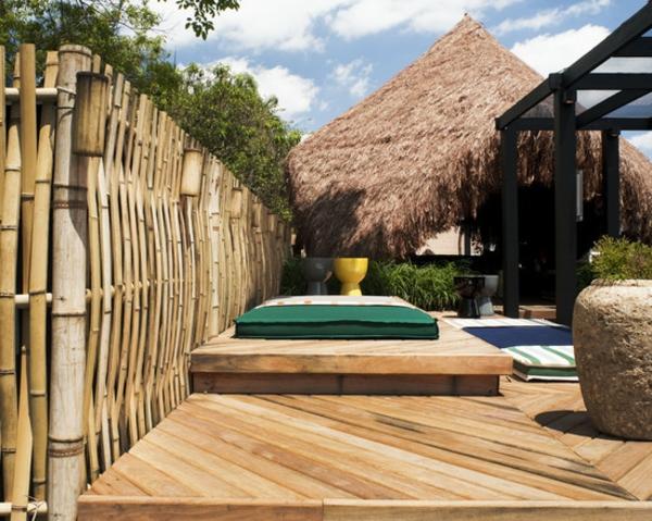 la canisse bambou une cl ture de jardin jolie et cologique. Black Bedroom Furniture Sets. Home Design Ideas