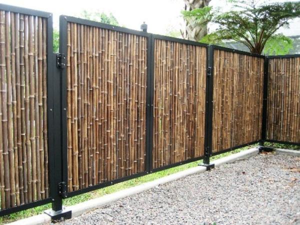 La canisse bambou une cl ture de jardin jolie et cologique - Canisse en bambou ...