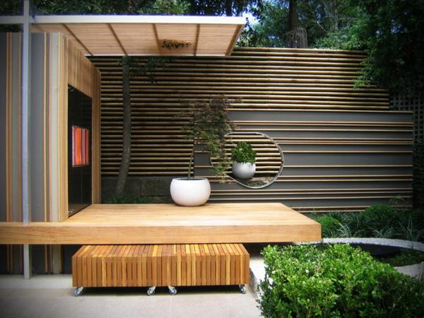 La canisse bambou une cl ture de jardin jolie et cologique for Decoration terrasse avec bambou