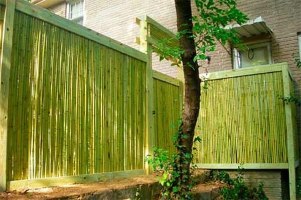 La canisse bambou une cl ture de jardin jolie et - Canisse en bambou ...