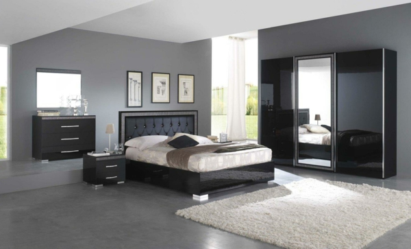 Moderne chambre coucher compl te for Petit meuble chambre a coucher