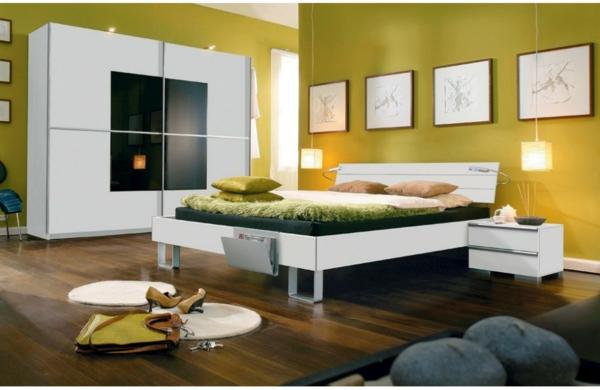 chambre-a-coucher-complète-mur-vert-lit-original-en-blanc-pour-votre
