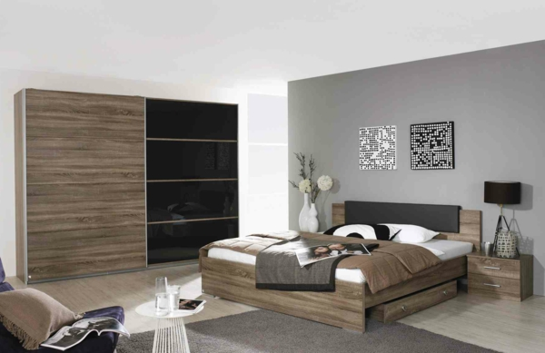 Moderne chambre coucher compl te for Chambre complete moderne
