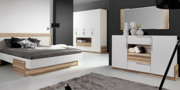 Gallery of moderne chambre coucher complte archzinefr with for Mobilier chambre adulte complete design