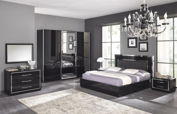 chambre gris et rouge 82 ides sur lu0027 amnagement. Black Bedroom Furniture Sets. Home Design Ideas