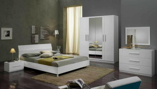 chambre-a-coucher-complete-avec-un-mur-en-gris