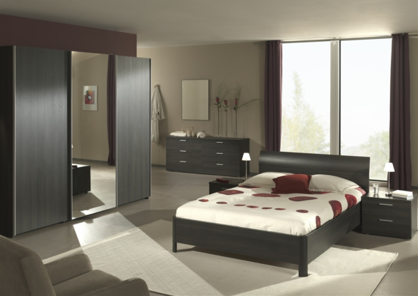 Moderne chambre coucher compl te for Chambre complete en solde