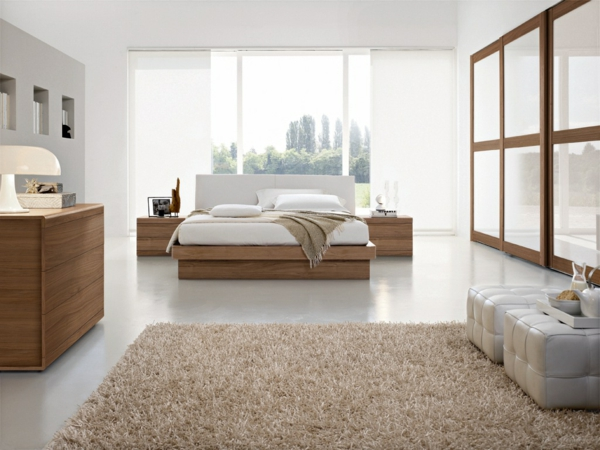 chambre a coucher style contemporain. Black Bedroom Furniture Sets. Home Design Ideas