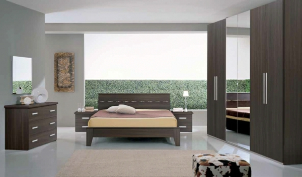 Moderne chambre coucher compl te for Modele des chambres a coucher