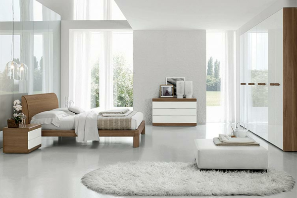 chambre a coucher blanche et bois design de maison. Black Bedroom Furniture Sets. Home Design Ideas