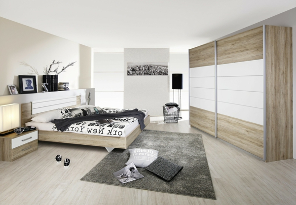 chambre a coucher style new york images. Black Bedroom Furniture Sets. Home Design Ideas
