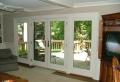 La porte coulissante vitrée- la peinture est la nature