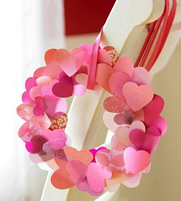 coeurs-de-papier-unique-en-rose-pour-décoration-de-la-maison