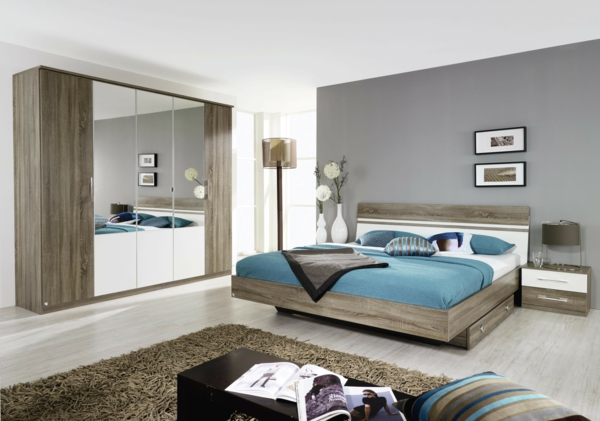 Moderne chambre coucher compl te for Idee chambre a coucher moderne