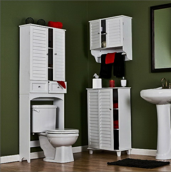 Le meuble wc for Salle de bain avec meuble blanc