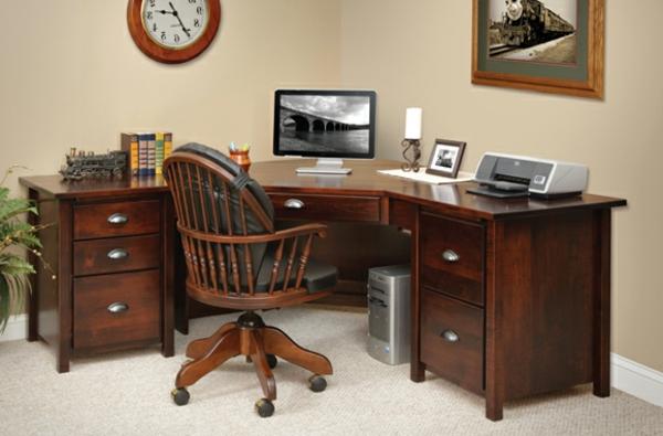 La chaise du bureau en bois rétro moderne archzine