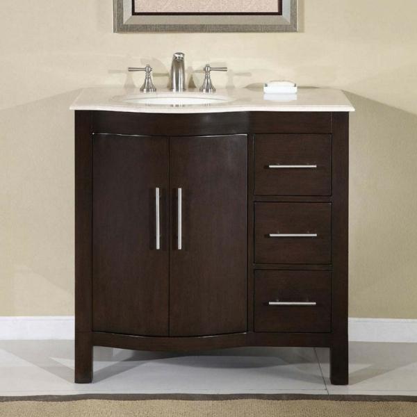 cool-design-pour-votre-meuble-sous-évier-en-bois-foncé-lavabo-en-blanc