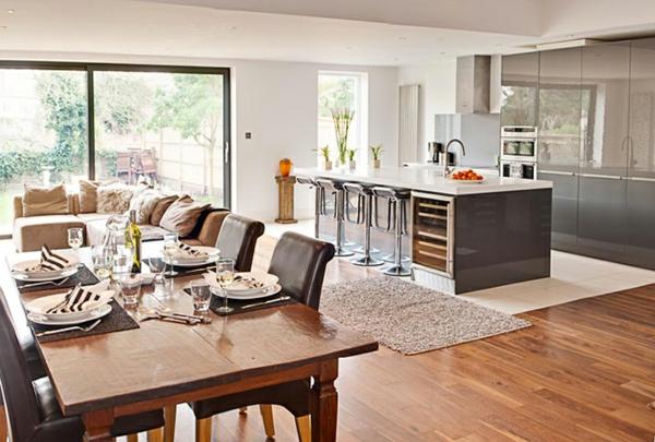 cuisine-ouverte-sur-la-salle-à-manger-cuisine-à-plan-ouvert