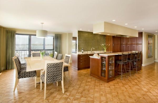 cuisine-ouverte-sur-la-salle-à-manger-cuisine-élégante-et-belle