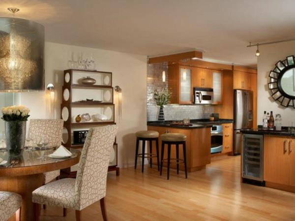 Pin plan de cuisine ouverte sur salon images on pinterest for Plan de cuisine ouverte sur salle a manger
