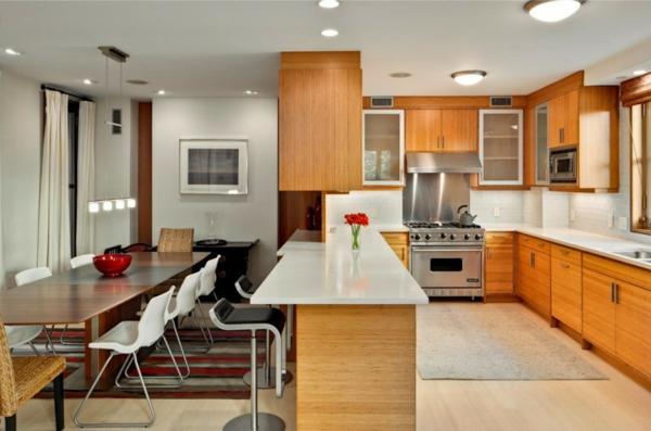 cuisine-ouverte-sur-la-salle-à-manger-cuisine-magnifique-idées-déco-jolies