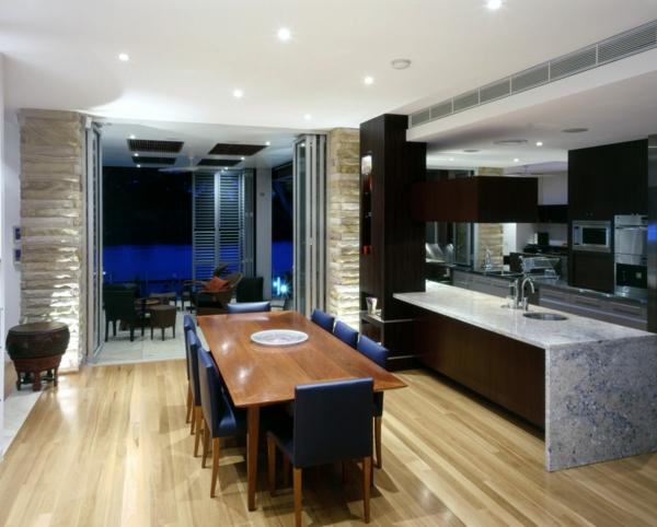 cuisine-ouverte-sur-la-salle-à-manger-grand-îlot-de-cuisine