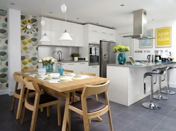 Chambre A Coucher Une Personne : Cuisine ouverte sur la salle à manger, intérieur cosy et beau