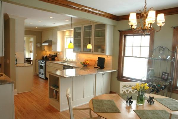 La cuisine ouverte sur la salle manger 55 photos for Cuisine style cosy