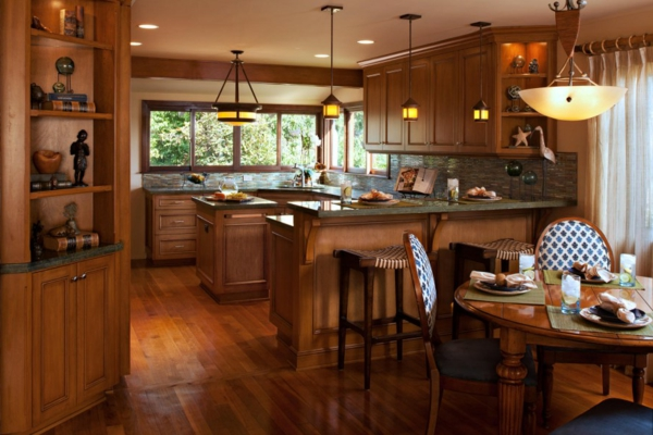 cuisine-ouverte-sur-la-salle-à-manger-intérieur-traditionnel