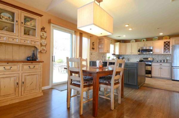 cuisine-ouverte-sur-la-salle-à-manger-style-rustique