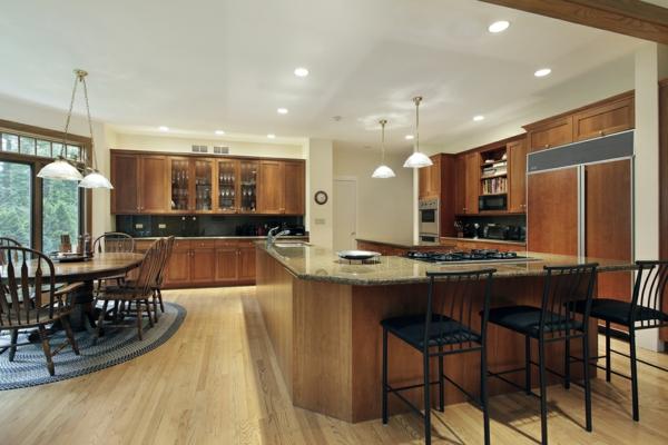 La cuisine ouverte sur la salle manger 55 photos for Grande cuisine ouverte