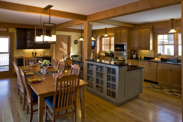 cuisine-ouverte-sur-la-salle-à-manger-une-belle-cuisine-à-plan-ouvert