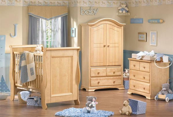 décoration-chambre-bébé-aménagement-en-bois