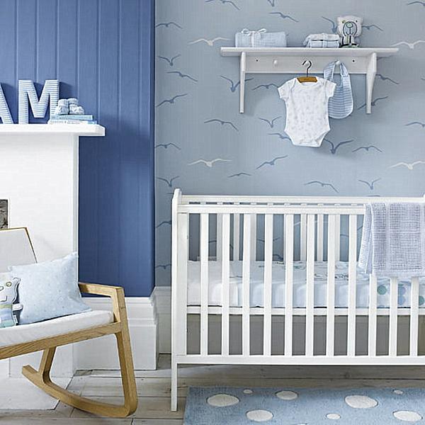 décoration-chambre-bébé-chambre-garçon-en-bleu-pâle