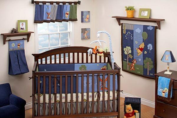 décoration-chambre-bébé-chambre-garçon-en-bleu
